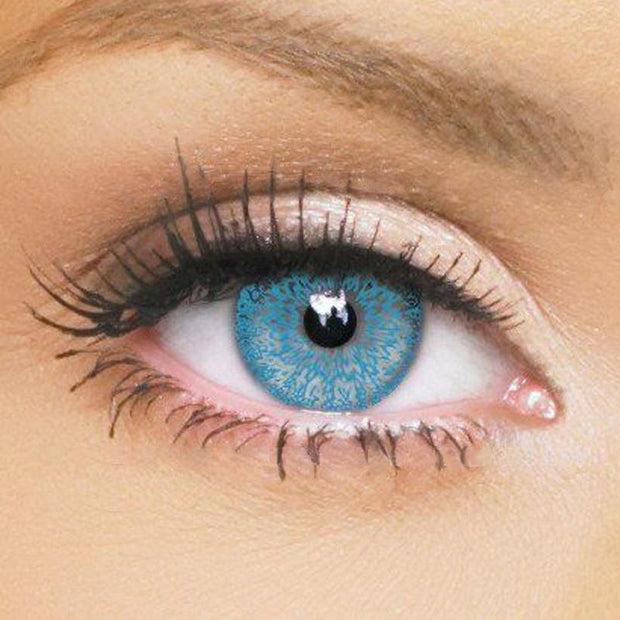 Natural lake blue pattern eyes (12 months) contact lens