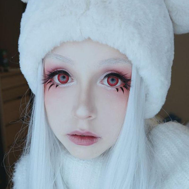 cosplay cute girl with red eyes (12 months) contact lenses