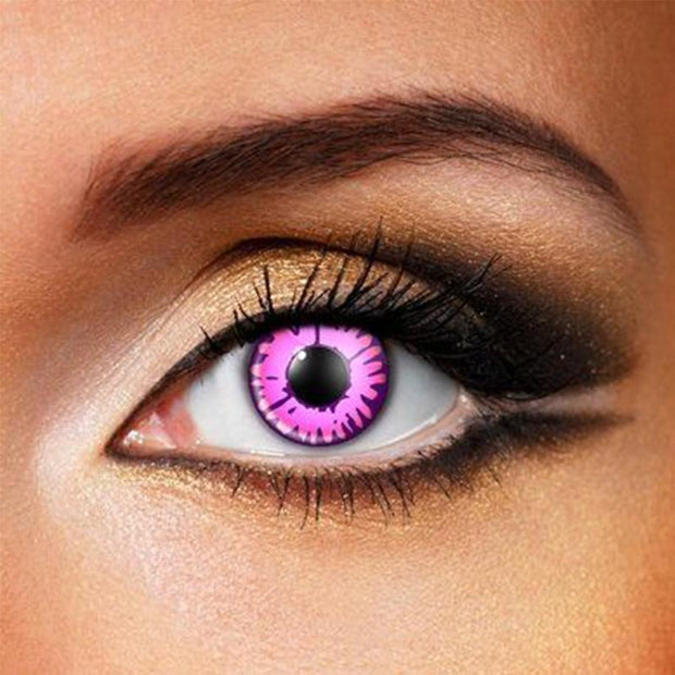 cosplay fluorescent pink (12 months) contact lenses