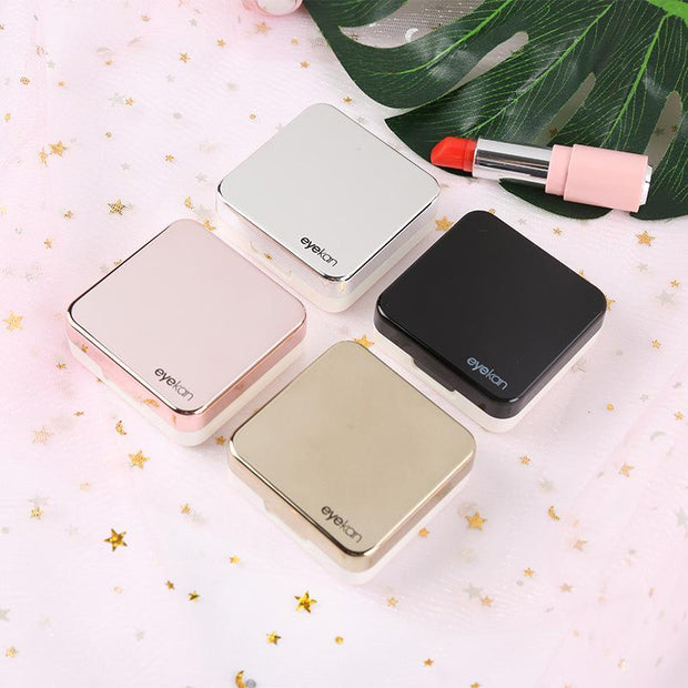 Contact lens case portable contact lens myopia glasses case color