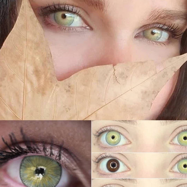 [FLASH SALE⚡]Natural light brown-green (12 months) contact lenses