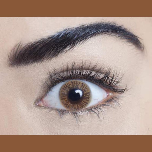 Natural bright brown (12 months) contact lenses
