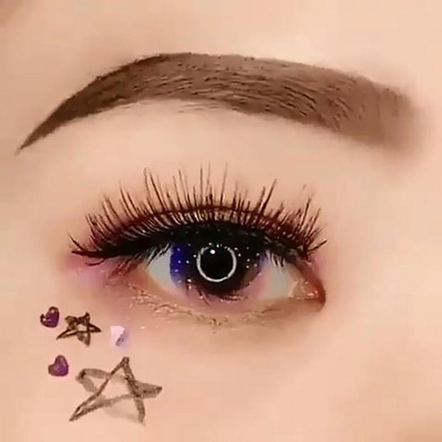 Starry sky rainbow color (12 months) contact lenses