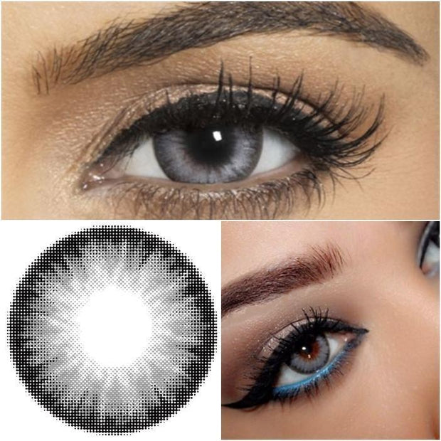 Flash Grey Contact Lens (12 Month) - fameou