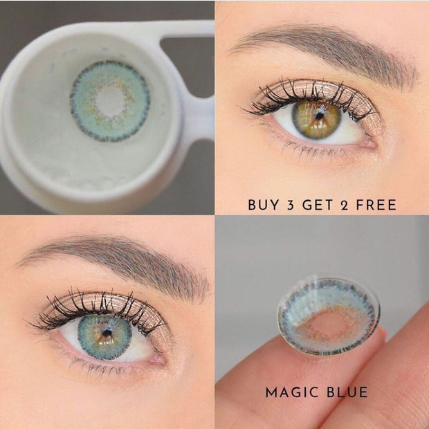 Natural Magic Blue (12 Month) Contact Lenses