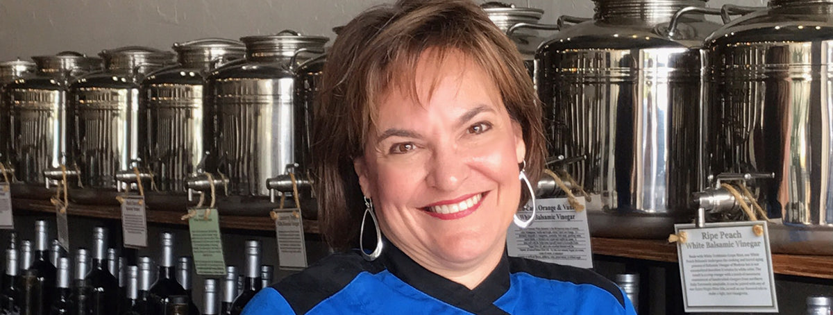 Meet Chef Michelle - passionate about helping others create great foods with our uniquely INFUSED Oils and Vinegars.