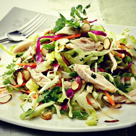 Asian Chicken Salad | fruit vinegars | specialty vinegars - EVOO & Vin