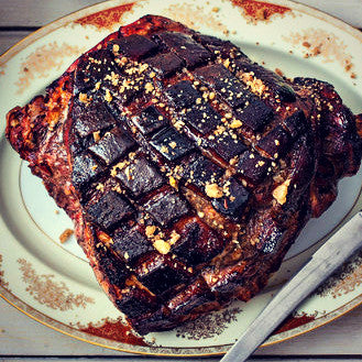 Balsamic Vinegar Glazed Ham - EVOO & Vin