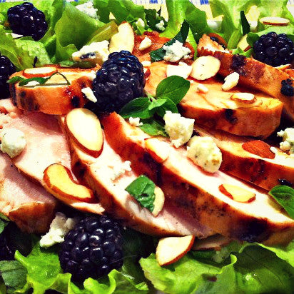 Blackberry, Feta, and Almond Salad - EVOO & Vin