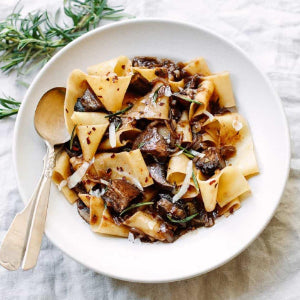 Chicken with Pappardelle & Balsamic Reduction