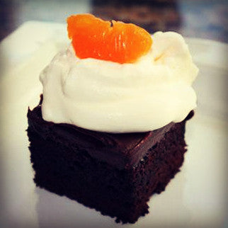 Dark Chocolate-Blood Orange, Tangerine Cake with Blood Orange Ganache - EVOO & Vin