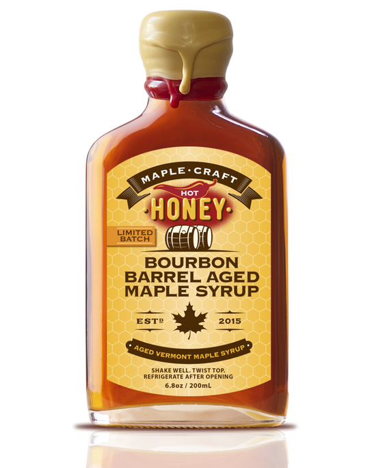 Hot Honey Bourbon INFUSED Maple Syrup