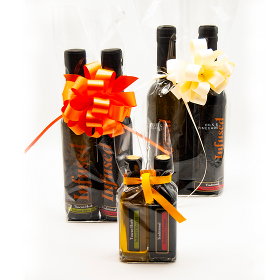 Pre Wrapped Gift Baskets Infused Oils Vinegars