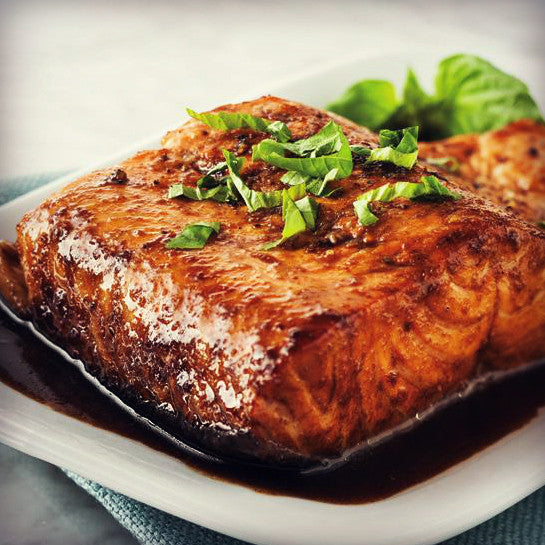Salmon with Creamy Balsamic - EVOO & Vin