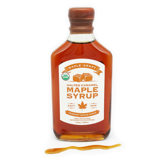Salted Caramel INFUSED Maple Syrup