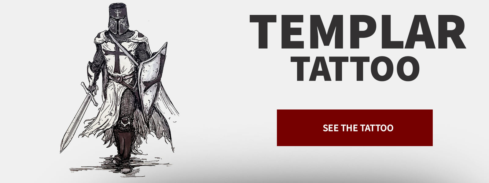 Temporary Tattoo Knight Templar