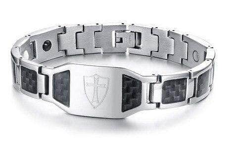 Knights Templar Bracelet Shield of the Order (Silver)