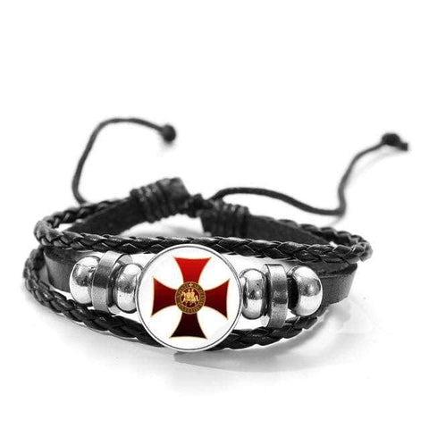 Knights Templar Bracelet Temple Cross