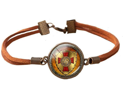 Knights Templar Bracelet Temple Shield