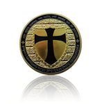 knights templar cross coin
