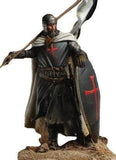 Knights Templar Figurine Black Shield