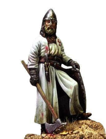 Knights Templar Figurine Knight with Axe