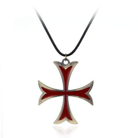 Knights Templar Necklace Cross of the Order (Gold)