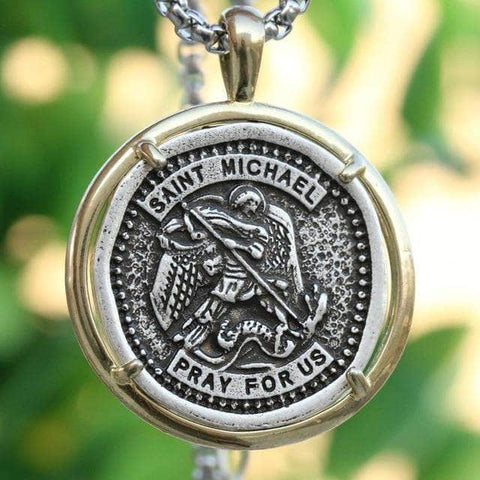 saint michael the archangel necklace