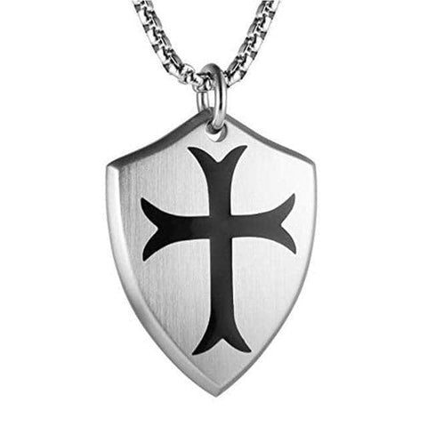 templar knights cross necklace