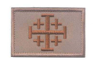 Knights Templar Patch Jerusalem Brown