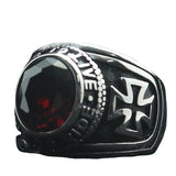 Knights Templar Ring Red Zircon