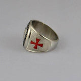 Knights Templar Ring Red