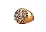 Knights Templar Ring Order of Saint Benedict Gold