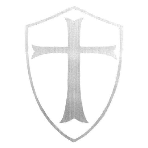 Knights Templar Sticker Grey Templar Cross