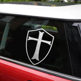 Knights Templar Sticker Grey