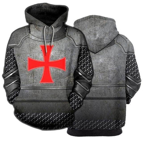 Knights Templar Sweatshirt Grey Chainmail