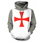 Knights Templar Hoodie Red Cross