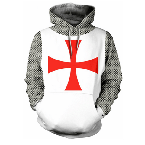 Knights Templar Sweatshirt Red Cross