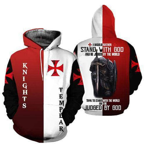 Knights Templar Sweatshirt Stand With God