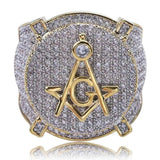 Masonic Ring Cubic Zircons