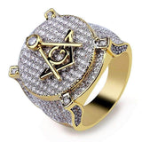 Masonic Ring 1000 Cubic Zircons