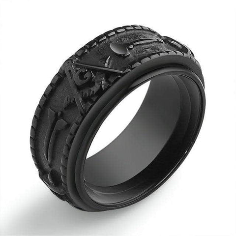 Masonic Ring Apprentice Black