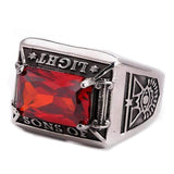 Masonic Ring Red Light