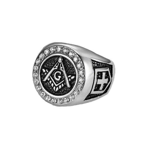 Masonic Ring Robert Moray Silver