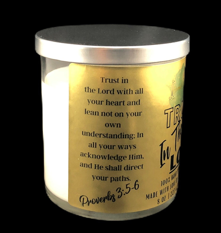 Trust In The Lord Candle
