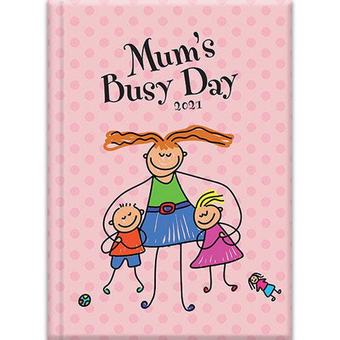 A5 Padded Diary - Mum's Busy Day-Stationery-The Gifted Stationery-Thursford Enterprises Ltd.