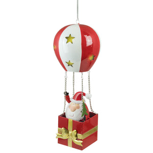 Light up Santa in balloon-Christmas Decoration-Fountasia-Thursford Enterprises Ltd.