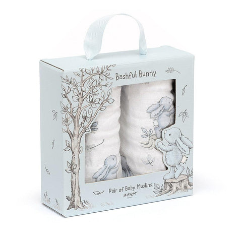 Bashful Blue Bunny Muslins-Baby Gifts-Jellycat-Thursford Enterprises Ltd.