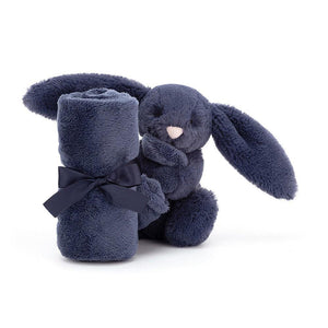Bashful Navy Bunny Soother-Baby Gifts-Jellycat-Thursford Enterprises Ltd.