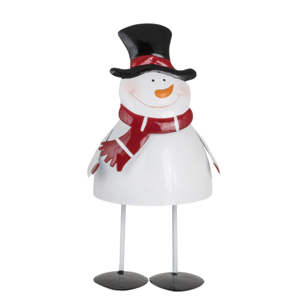 Metal Bobbin Snowman-Christmas Decoration-Fountasia-Medium-Thursford Enterprises Ltd.